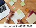 woman writing plans for the day ... | Shutterstock . vector #415217002