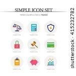 finance simple icon set | Shutterstock .eps vector #415232782