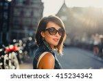 young pretty girl  posing in... | Shutterstock . vector #415234342