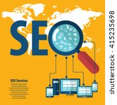 seo services concept with 20... | Shutterstock .eps vector #415235698