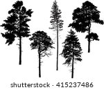 illustration with trees set... | Shutterstock .eps vector #415237486