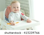 portrait of happy young baby... | Shutterstock . vector #415239766