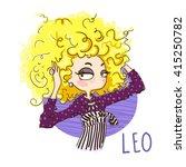 zodiac signs leo. vector... | Shutterstock .eps vector #415250782