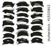 abstract black vector brush... | Shutterstock .eps vector #415253812