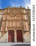 Small photo of Salamanca - The plateresque façade of the University of Salamanca form 16. cent.