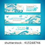 vector set of sea ocean... | Shutterstock .eps vector #415268746