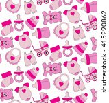 pattern for girl | Shutterstock .eps vector #415290862