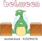 cartoon dragon stands between... | Shutterstock .eps vector #415294276