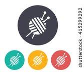 vector flat tailor ravel ball... | Shutterstock .eps vector #415299292