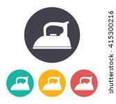 vector flat tailor iron icon... | Shutterstock .eps vector #415300216