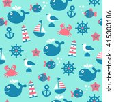 childish vector nautical...   Shutterstock .eps vector #415303186