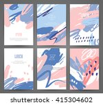 set of brochures with hand... | Shutterstock .eps vector #415304602