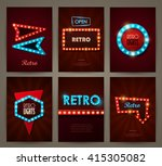 set of brochures in retro style.... | Shutterstock .eps vector #415305082