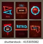 set of brochures in retro style.... | Shutterstock .eps vector #415305082