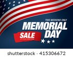 Stock vector memorial day sale banner template design 415306672