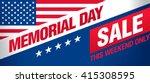 memorial day sale banner... | Shutterstock .eps vector #415308595