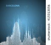 technology image of barcelona.... | Shutterstock .eps vector #415313056