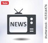 news reporter on tv. flat...