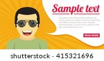 fun concept. vector flat design ... | Shutterstock .eps vector #415321696
