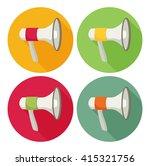 megaphone flat icon set | Shutterstock .eps vector #415321756