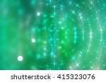 abstract shiny blue and green... | Shutterstock . vector #415323076