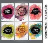 set of creative cards... | Shutterstock .eps vector #415325335