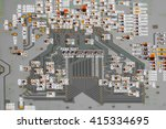 electronic circuit board close... | Shutterstock . vector #415334695