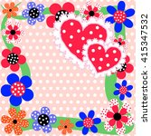bright romantic floral... | Shutterstock . vector #415347532
