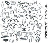 doodle icon design. cartoon... | Shutterstock .eps vector #415349236