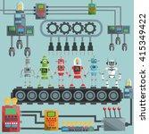 robot design. industry concept. ... | Shutterstock .eps vector #415349422