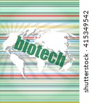 word biotech on digital touch... | Shutterstock .eps vector #415349542