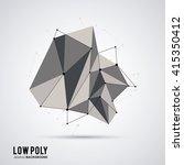 polygonal design. geometric... | Shutterstock .eps vector #415350412