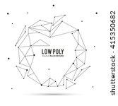 polygonal design. geometric... | Shutterstock .eps vector #415350682