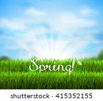 written word spring on the... | Shutterstock .eps vector #415352155
