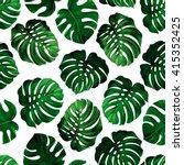 seamless pattern of leaves... | Shutterstock .eps vector #415352425