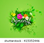 the spring composition with ... | Shutterstock .eps vector #415352446