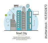 smart city design. social media ... | Shutterstock .eps vector #415352872