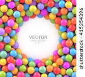 Colorful Balls Background With...