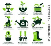 Flat Icon Set For Green Eco...