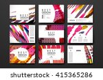 set of brochure  poster design... | Shutterstock .eps vector #415365286