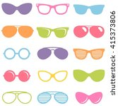 set of colorful sunglasses icons   Shutterstock .eps vector #415373806
