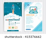 commitment and concept... | Shutterstock .eps vector #415376662