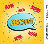 discount  comic art vector... | Shutterstock .eps vector #415383796