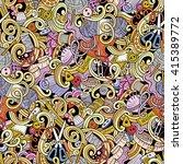 cartoon hand drawn handmade and ... | Shutterstock .eps vector #415389772