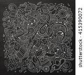 cartoon hand drawn doodles... | Shutterstock .eps vector #415390072