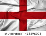 waving flag of genoa | Shutterstock . vector #415396075