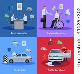 auto insurance concept with car ... | Shutterstock .eps vector #415397302