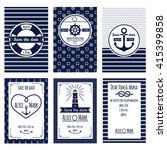set of nautical and marine... | Shutterstock .eps vector #415399858