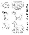 farm animals | Shutterstock .eps vector #41540080