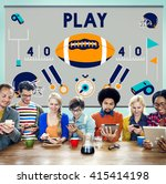 play quarterback rugby american ... | Shutterstock . vector #415414198